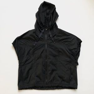 "Lululemon ""Run With It"" Hooded Short Sleeve Jacket"
